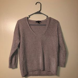Express chenille 3/4 sleeve sweater